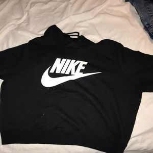 Nike black cropped sweatshirt
